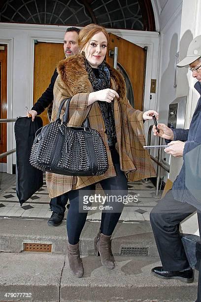 Adele is seen leaving the BBC Radio One Studios on January 27 2011 in London United Kingdom