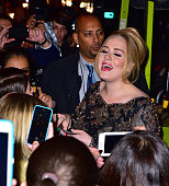 Adele leaves Radio City Music Hall on November 17 2015 in New York City