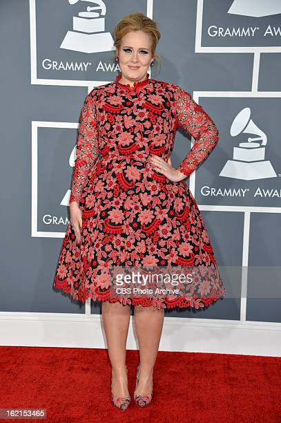 Adele on the red carpet at THE 55TH ANNUAL GRAMMY AWARDS The music industry's premier event will take place Sunday Feb 10 at STAPLES Center in Los...