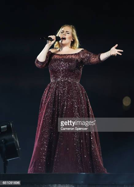 Adele performs at ANZ Stadium on March 10 2017 in Sydney Australia