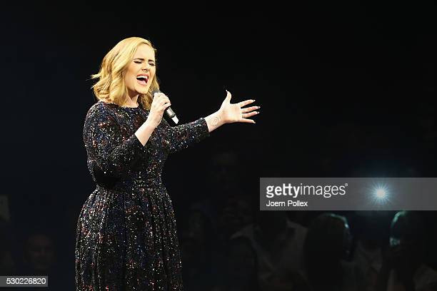 Adele performs at Barclaycard Arena on May 10 2016 in Hamburg Germany
