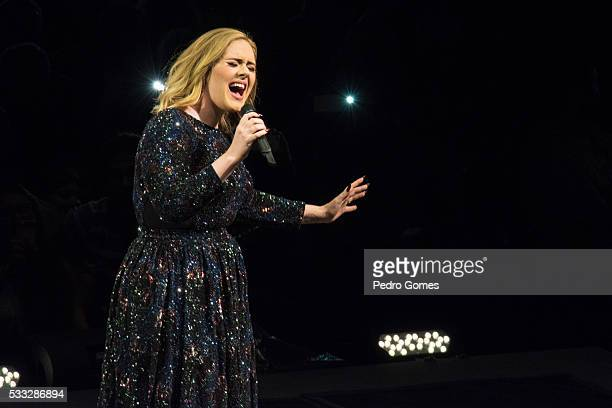 Adele performs at Meo Arena on May 21 2016 in Lisbon Portugal
