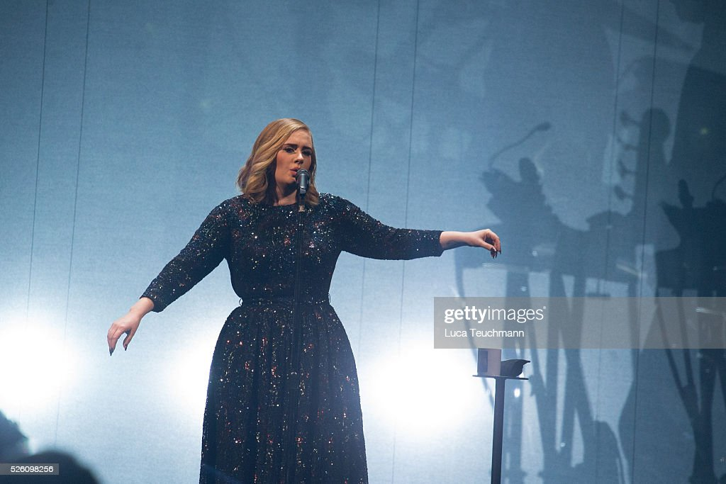 Adele performs at Tele2 Arena on April 29, 2016 in Stockholm, .