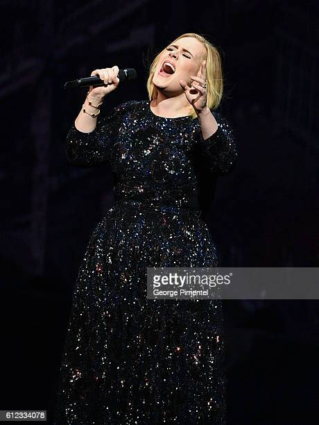 Adele performs for the Adele Live 2016 North American Tour at Air Canada Centre on October 3 2016 in Toronto Canada