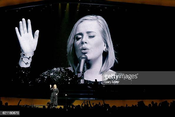 Adele performs in concert at The Frank Erwin Center on November 4 2016 in Austin Texas