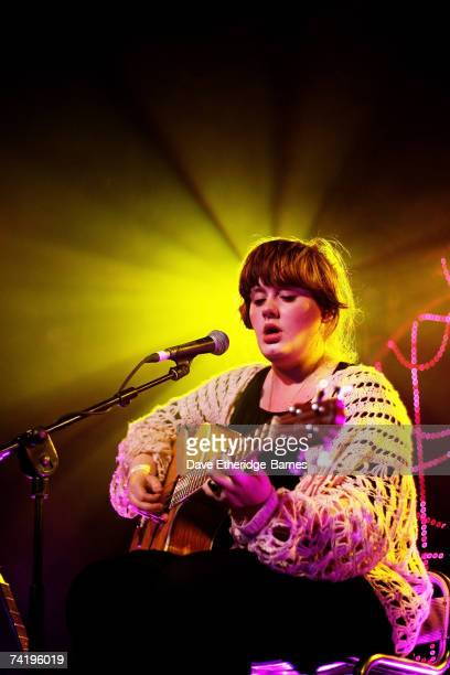 Adele performs on the MTV2 Gonzo On Tour stage at the Concorde 2 during day three of the Great Escape Festival on May 19 2007 in Brighton England
