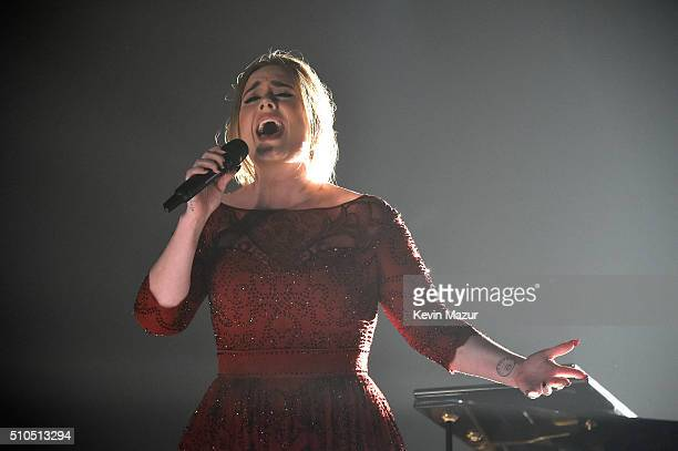 Adele performs onstage during The 58th GRAMMY Awards at Staples Center on February 15 2016 in Los Angeles California