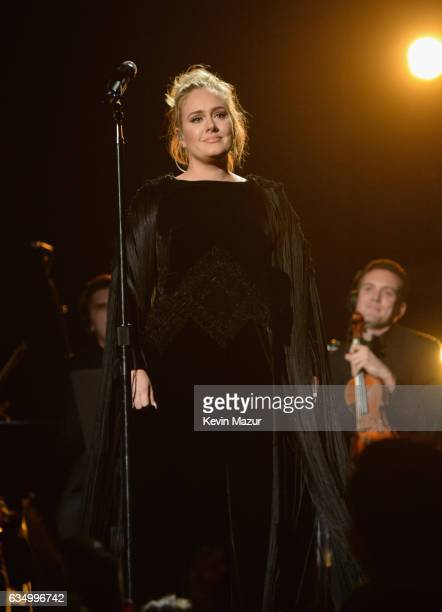 Adele performs onstage during The 59th GRAMMY Awards at STAPLES Center on February 12 2017 in Los Angeles California