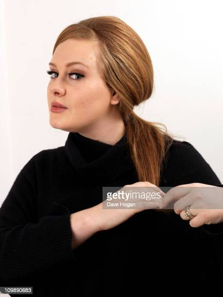 Adele poses for a portrait session to promote her new album '21' on January 10 2011 in London England