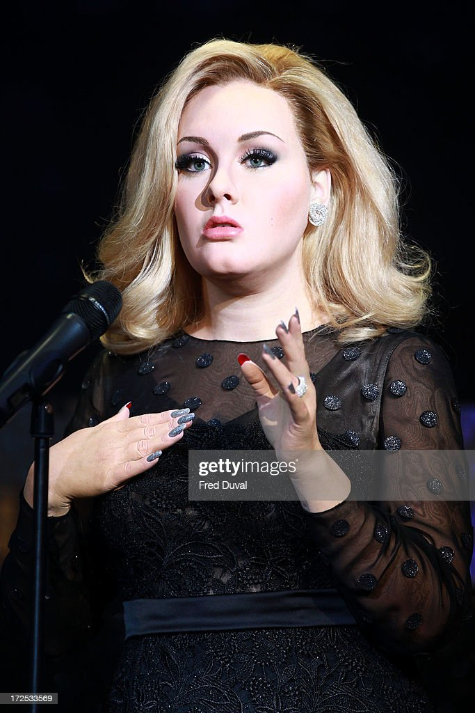 Adele's new waxwork is unveiled at Madame Tussauds on July 3, 2013 in London, England.