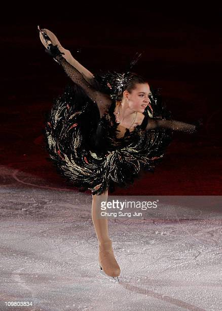 Adelina Sotnikova of Russia skates in the Gala Exhibition during day seven of the 2011 World Junior Figure Skating Championships at Gangneung...