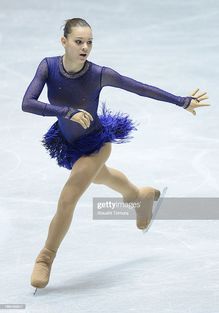 Adelina Sotonikova of Russia competes in the ladies's free skating during day three of the ISU World Team Trophy at Yoyogi National Gymnasium on April 13, 2013 in Tokyo, Japan.