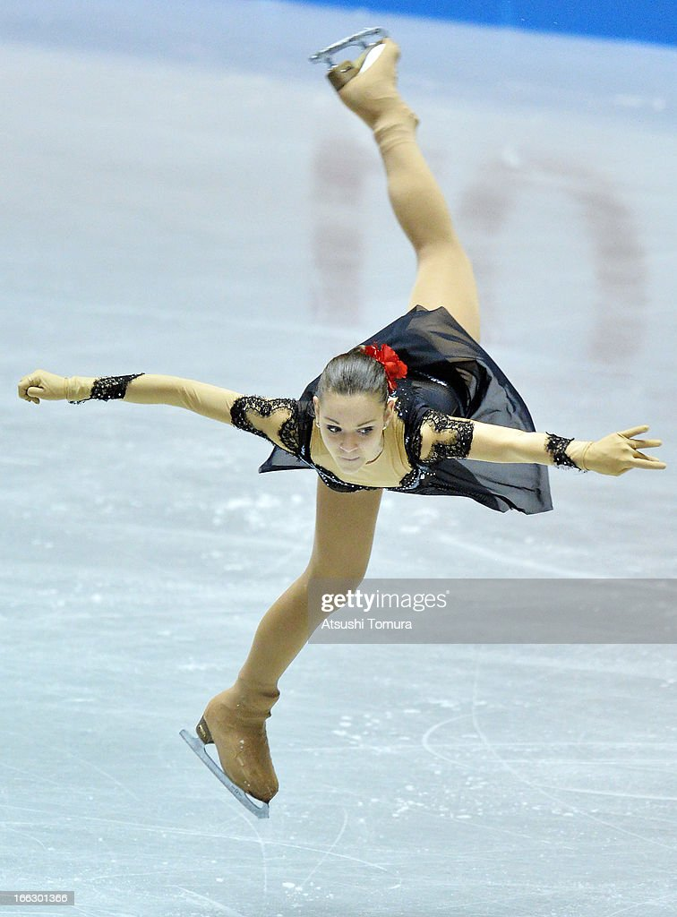 Adelina Sotonikova of Russia competes in the ladies's short program during day one of the ISU World Team Trophy at Yoyogi National Gymnasium on April 11, 2013 in Tokyo, Japan.