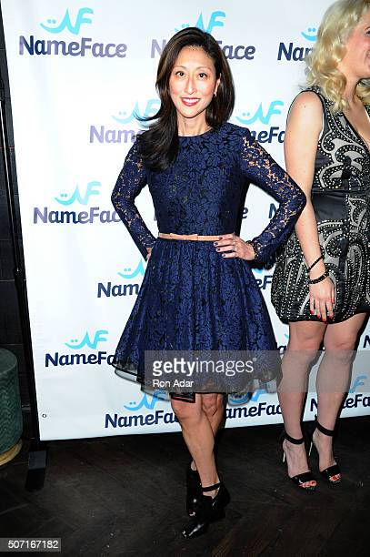 Adelina Wong Ettelson attends the NameFacecom launch at No 8 on January 27 2016 in New York City