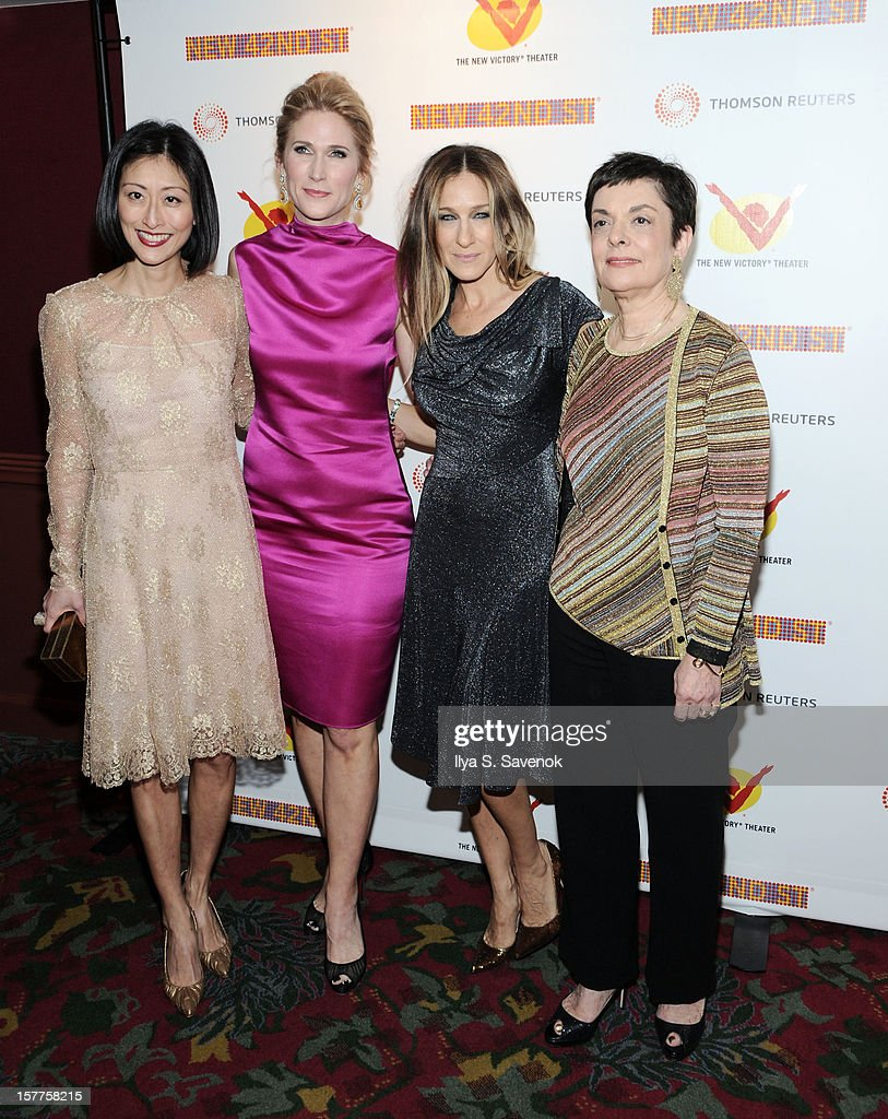 Adelina Wong Ettelson, Fiona Howe Rudin, <a gi-track='captionPersonalityLinkClicked' href=/galleries/search?phrase=Sarah+Jessica+Parker&family=editorial&specificpeople=201693 ng-click='$event.stopPropagation()'>Sarah Jessica Parker</a> and Cora Cahan attend New 42nd Street Gala at The New Victory Theater on December 5, 2012 in New York City.