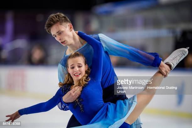 Adelina Zvezdova and Uladzimir Zaitsau of Belarus compete in the Junior Ice Dance Free Dance on day 2 of the ISU Junior Grand Prix of Figure Skating...