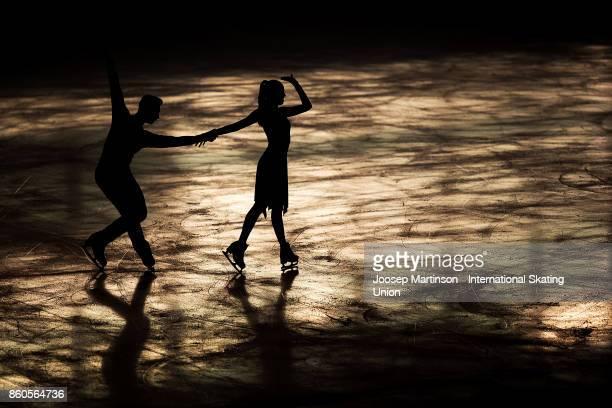 Adelina Zvezdova and Uladzimir Zaitzau of Belarus compete in the Junior Ice Dance Short Dance during day one of the ISU Junior Grand Prix of Figure...