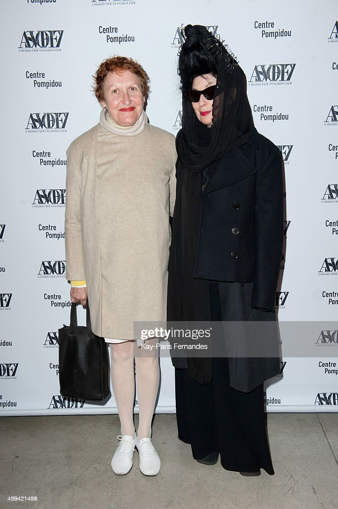 Adeline Andre and <a gi-track='captionPersonalityLinkClicked' href=/galleries/search?phrase=Diane+Pernet&family=editorial&specificpeople=4347865 ng-click='$event.stopPropagation()'>Diane Pernet</a> attend the ASVOFF 7 : Day 2 at Beaubourg on November 22, 2014 in Paris, France.