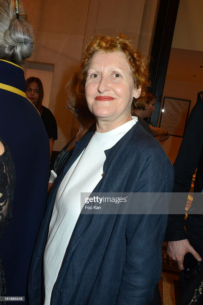 Adeline Andre attends the Azzedine Alaia Exhibition : At Palais Galliera, Fashion Museum In Paris on September 25, 2013 in Paris, France.