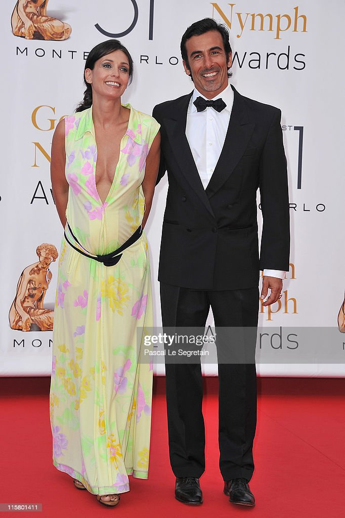 Adeline Blondieau (L) and Laurent Hubert (R) arrive to attend the closing ceremony of the 51st Monte Carlo TV Festival at the Grimaldi forum on June 10, 2011 in Monaco, Monaco.