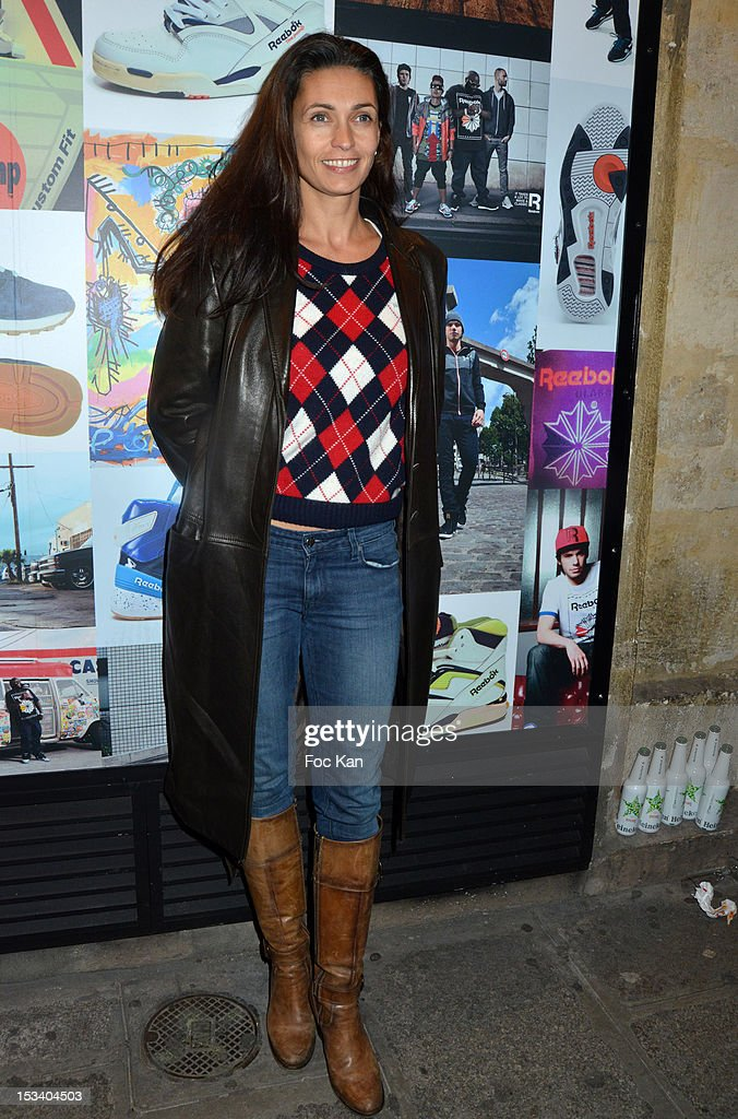 Adeline Blondieau attends the Reebok Ephemeral Beaubourg Flagship Store Opening Party at LÕImprimerie October 4, 2012 in Paris, France.