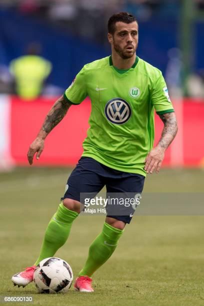 Adelino Andre Vieira de Freitas of Wolfsburg controls the ball during the Bundesliga match between Hamburger SV and VfL Wolfsburg at Volksparkstadion...