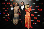 Adem Karifili Chief Operating Officer of Swisse Wellness actress Nicole Kidman Radek Sali CEO at Swisse Wellness and model Ashley Hart attend Swisse...