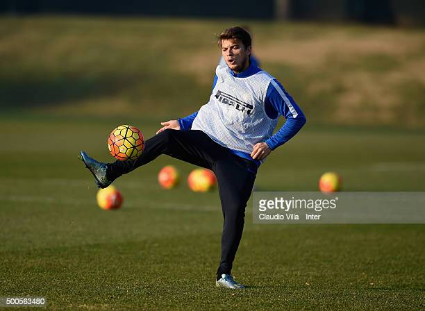 Adem Ljajic in action during the FC Internazionale training session at the club's training ground at Appiano Gentile on at Appiano Gentile on...