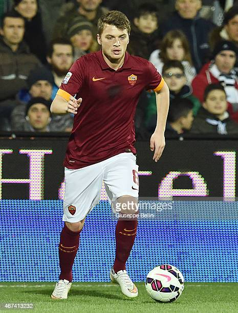 Adem Ljajic of AS Roma in action during the Serie A match between AC Cesena and AS Roma at Dino Manuzzi Stadium on March 22 2015 in Cesena Italy