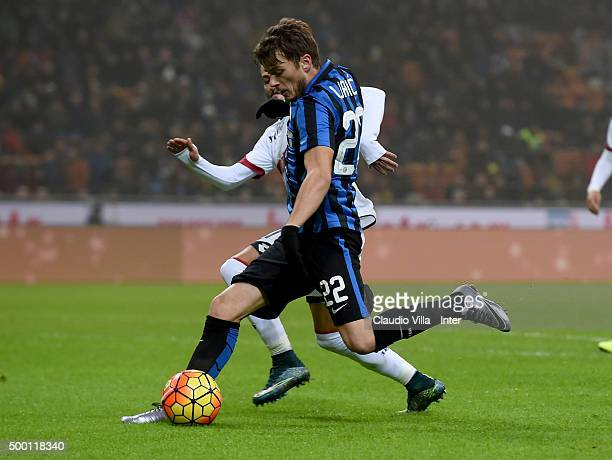 Adem Ljajic of FC Internazionale in action during the Serie A match between FC Internazionale Milano and Genoa CFC at Stadio Giuseppe Meazza on...