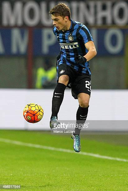 Adem Ljajic of FC Internazionale Milano controls the ball during the Serie A match between FC Internazionale Milano and Frosinone Calcio at Stadio...