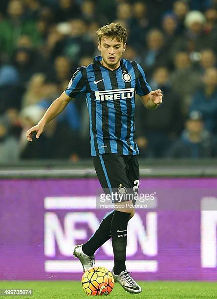 Adem Ljajic of Internazionale Milano in action during the Serie A match between SSC Napoli and FC Internazionale Milano at Stadio San Paolo on...