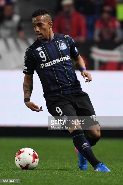 Ademilson of Gamba Osaka in action during the JLeague J1 match between Gamba Osaka and Urawa Red Diamonds at Suita City Football Stadium on March 19...
