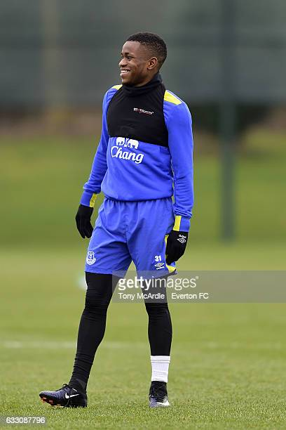 Ademola Lookman during the Everton FC training session at USM Finch Farm on January 30 2017 in Halewood England
