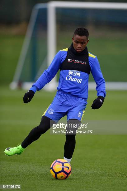 Ademola Lookman during the Everton FC training session at USM Finch Farm on March 3 2017 in Halewood England