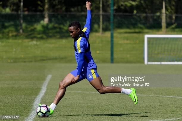 Ademola Lookman during the Everton FC training session at USM Finch Farm on May 4 2017 in Halewood England