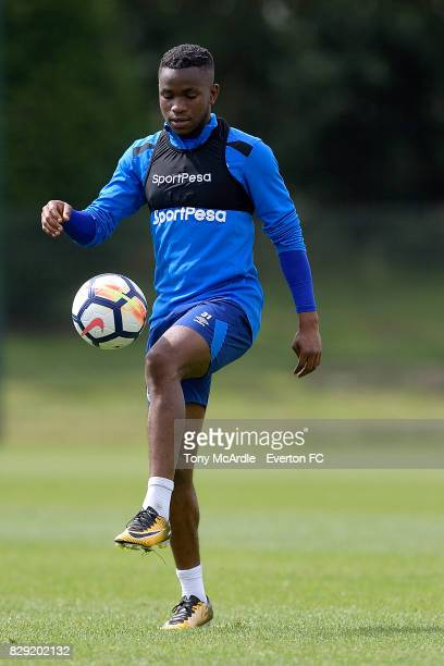 Ademola Lookman during the Everton FC training session at USM Finch Farm on August 10 2017 in Halewood England