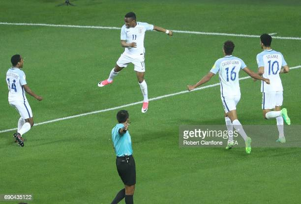 Ademola Lookman of England celebrates after scoring a goal during the FIFA U20 World Cup Korea Republic 2017 Round of 16 match between England and...