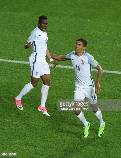 Ademola Lookman of England celebrates with Dominic CalvertLewin after scoring a goal during the FIFA U20 World Cup Korea Republic 2017 Round of 16...