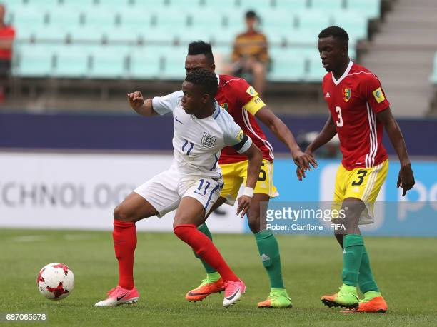Ademola Lookman of England controls the ball during the FIFA U20 World Cup Korea Republic 2017 group A match between England and Guinea at Jeonju...