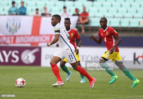 Ademola Lookman of England runs with the ball during the FIFA U20 World Cup Korea Republic 2017 group A match between England and Guinea at Jeonju...
