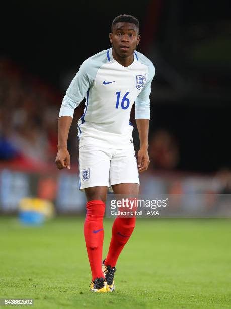 Ademola Lookman of England U21 during the UEFA Under 21 Championship Qualifier match between England and Latvia at Vitality Stadium on September 5...