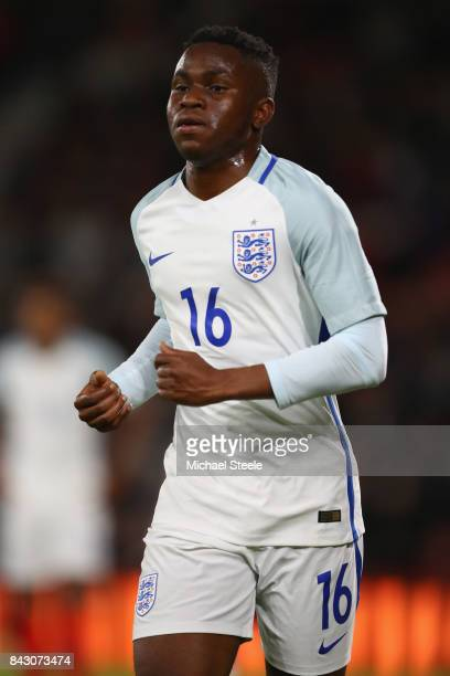 Ademola Lookman of England U21's during the UEFA Under 21 Championship Qualifier match between England and Latvia at the Vitality Stadium on...
