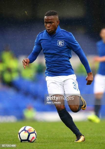 Ademola Lookman of Everton during a preseason friendly match between Everton and Sevilla at Goodison Park on August 6 2017 in Liverpool England