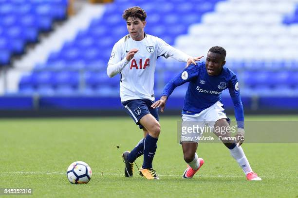 Ademola Lookman of Everton during the Premier League 2 match between Everton U23 and Tottenham Hotspur U23 at Goodison Park on September 10 2017 in...