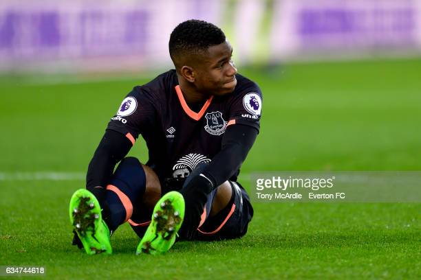 Ademola Lookman of Everton during the Premier League match between Middlesbrough and Everton at the Riverside Stadium on February 11 2017 in...