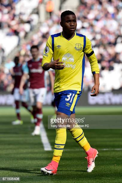 Ademola Lookman of Everton during the Premier League match between West Ham United and Everton at London Stadium on April 22 2017 in Stratford United...