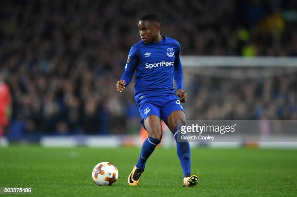 Ademola Lookman of Everton during the UEFA Europa League group E match between Everton FC and Olympique Lyon at Goodison Park on October 19 2017 in...