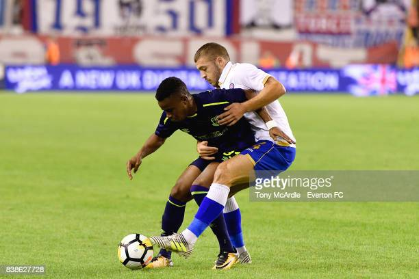 Ademola Lookman of Everton during the UEFA Europa League Qualifying PlayOffs round second leg between Hajduk Split and Everton on August 24 2017 in...