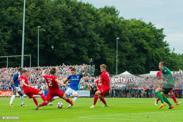Ademola Lookman of Everton FC Dejan Trajkovski of FC Twente Hidde ter Avest of FC Twente Kevin Mirallas of Everton FC Joachim Andersen of FC Twente...